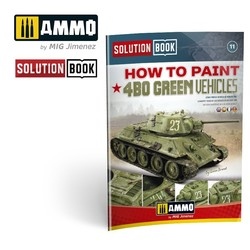 How to Paint How to Paint 4BO Green Vehicles Solution Book - Ammo by Mig Jimenez - A.MIG-6600