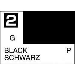 Mr Color Black - 10ml - Mr Hobby / Gunze - MRH-C-002