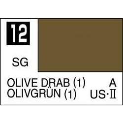 Mr Color Olive Drab 1 - 10ml - Mr Hobby / Gunze - MRH-C-012