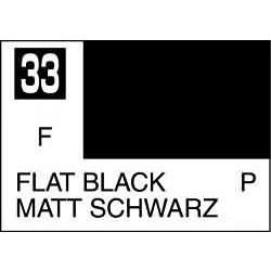 Mr Color Flat Black - 10ml - Mr Hobby / Gunze - MRH-C-033