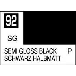 Mr Color Semi Gloss Black - 10ml - Mr Hobby / Gunze - MRH-C-092
