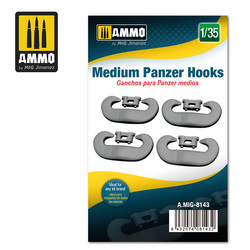 Medium Panzer Hooks- Scale 1/35 - Ammo by Mig Jimenez - A.MIG-8143