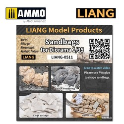 Sand Bags for Diorama x40 - Scales 1/35 or 1/48 - Liang Models - LIANG-0511