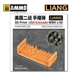3D-Print USA Grenade WWII x 60 -  Scale 1/35 - Liang Models - LIANG-0422