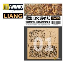 Weathering Airbursh Stencils - Various Scales - Liang Models - LIANG-0001