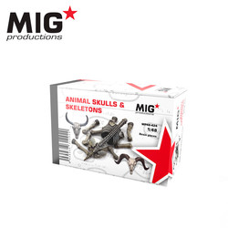 Animal Skulls & Skeletons - Scale 1/48 - Mig Productions - MP48-424