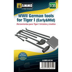 German Tools For Tiger I (Early & Mid) - Scale 1/35 - Ammo by Mig Jimenez - A.MIG-8134
