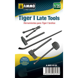 Late Tiger I Tools - Scale 1/35 - Ammo by Mig Jimenez - A.MIG-8135