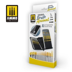 AMMO Brush Arsenal - Brush Organization & Protective Storage - Ammo by Mig Jimenez - A.MIG-8580