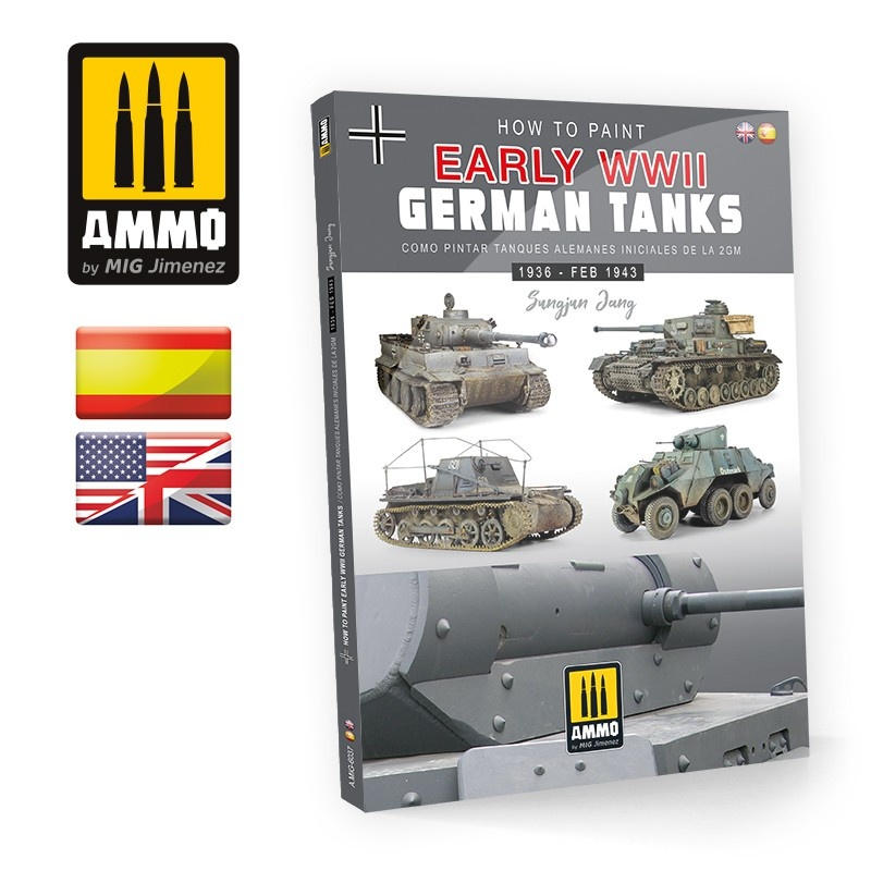 Ammo by Mig Jimenez How to Paint Early WWII German Tanks (English & Spanish) - Ammo by Mig Jimenez - A.MIG-6037