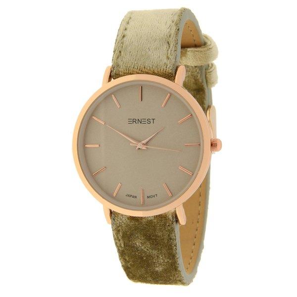 Ernest  Ernest Dames horloge velvet Khaki