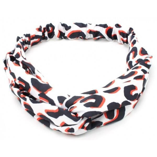 Haarband luipaard l Wit met rood