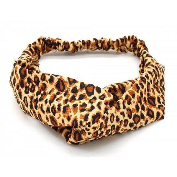 Haarband dierenprint l Lichtbruin