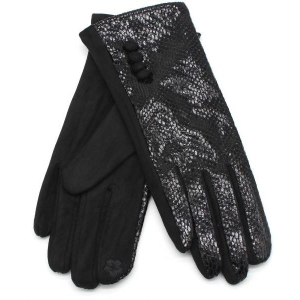Handschoenen Shiny Snake Zwart