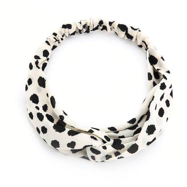 Haarband Cheetah wit