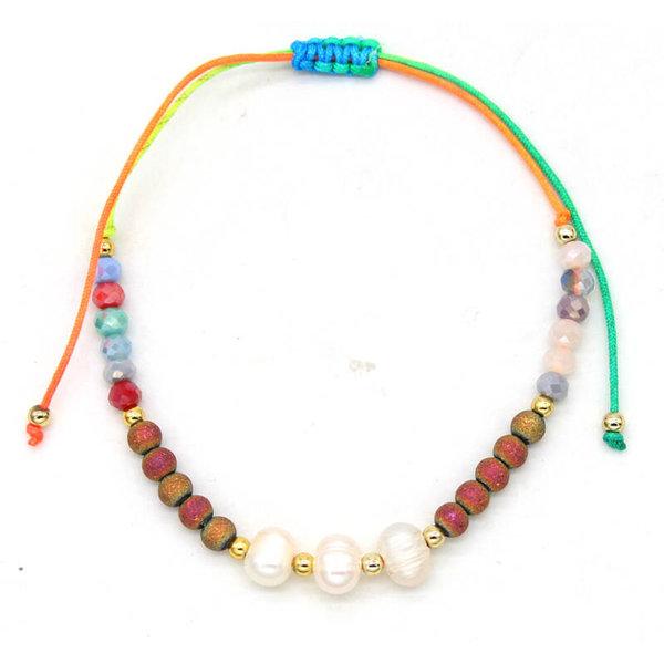 Enkelbandje sea pearls  — Multicolor