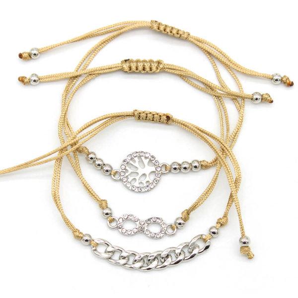 Armbandenset | Bruin - Infinity