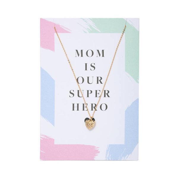 Yehwang Ketting met kaart | Mom is our superhero |  Goud