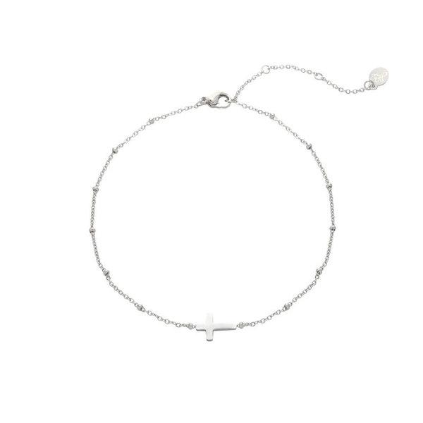 Armband Kruis — Zilver