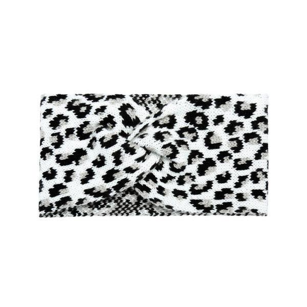 Haarband panterprint   Diverse kleuren  — Wit
