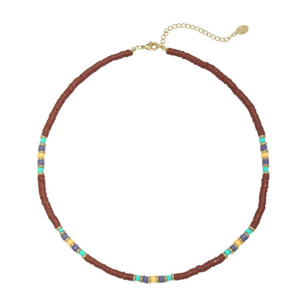 Yehwang Ketting Colorful Day  | Wijnrood