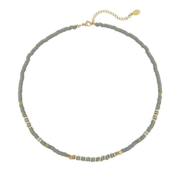 Yehwang Ketting Charming Beads  — Grijs