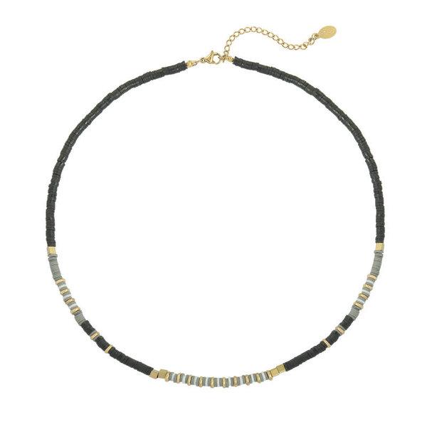 Yehwang Ketting Charming Beads  — Zwart
