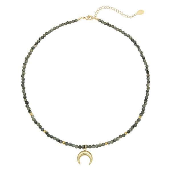 Yehwang Ketting Moon Beads — Groen