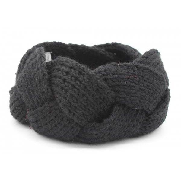 Haarband vlecht    Zwart