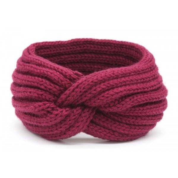 Haarband Knoop | Bordeaux rood