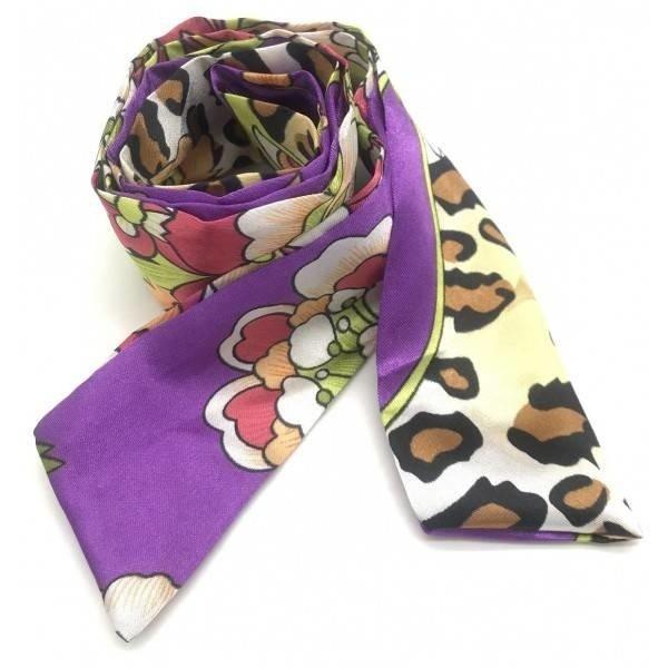 Haar sjaaltje design met luipaardprint | Diverse kleuren  — Paars