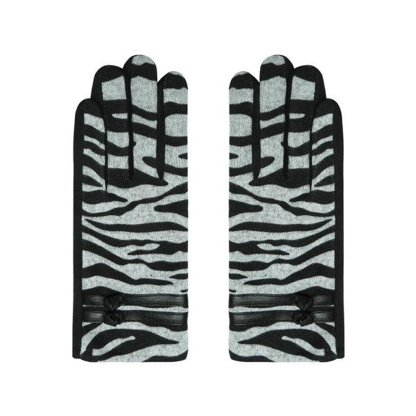 Yehwang Handschoenen Zebra style    Grijs