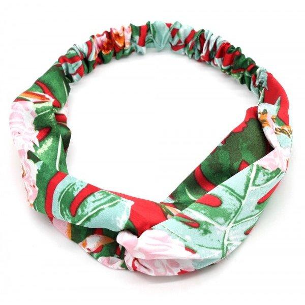 Haarband Jungle Flower l Groen -Rood