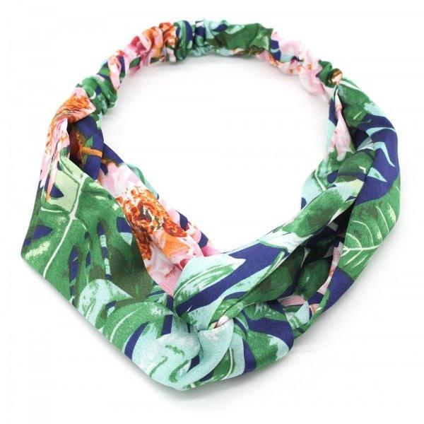 Haarband Jungle Flower l Groen - Blauw