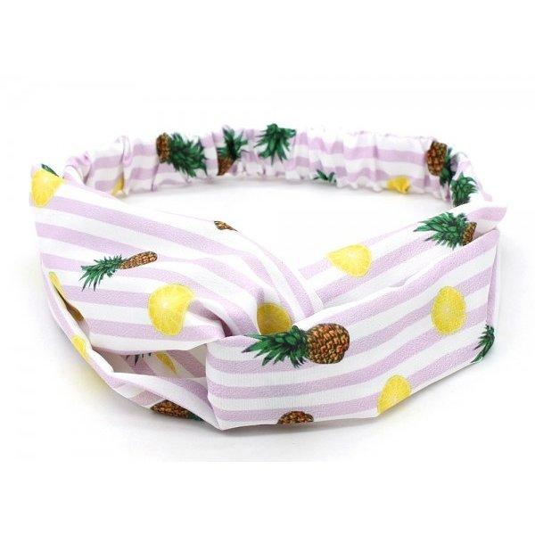 Haarband met strepen l Ananas en citroen