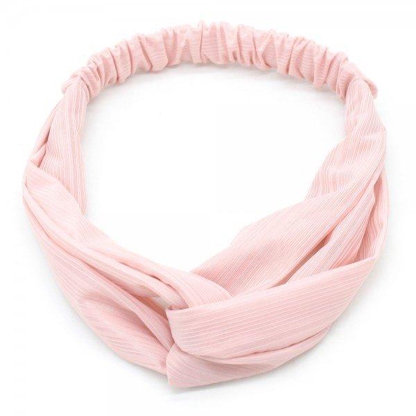 Haarband Roze geribbeld