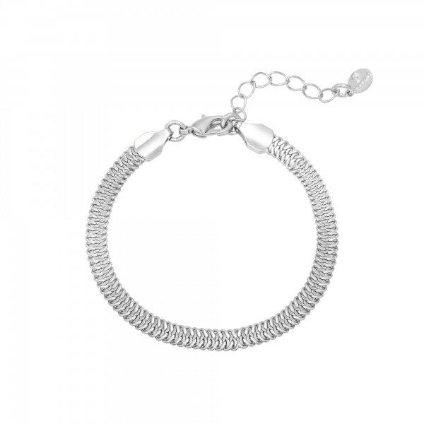 Yehwang Armband Snaky Chain Zilverkleur