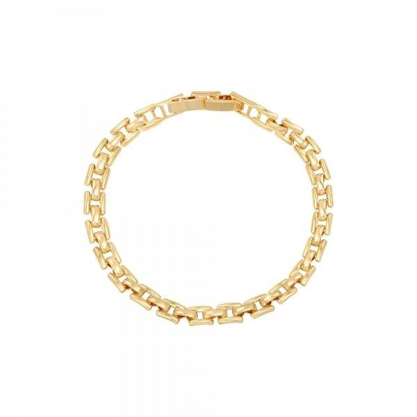 Yehwang Armband vierkante schakels goudkleurig