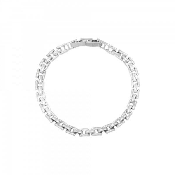 Yehwang Armband vierkante schakels Zilverkleurig