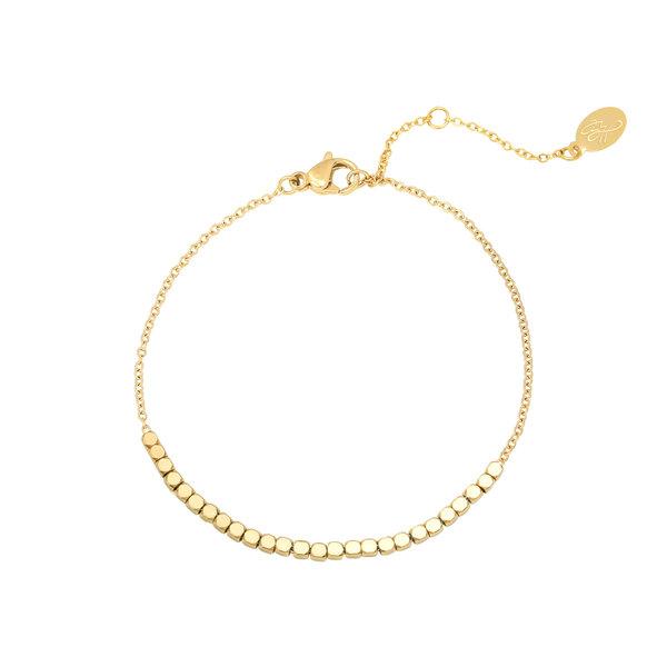 Yehwang Armband Line off dots | Goudkleur