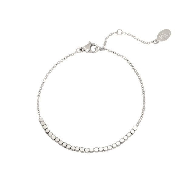 Yehwang Armband Line off dots | Zilverkleur