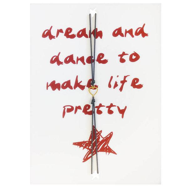 Yehwang Lucies Amsterdam   Kaart met armband   Dream and dance