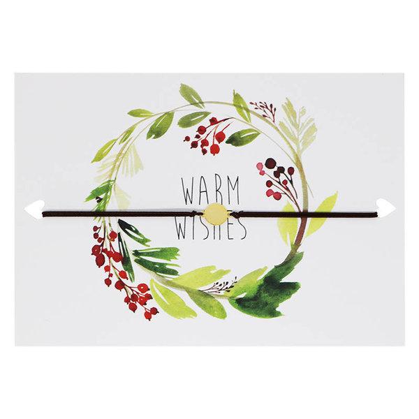 Yehwang Lucies Amsterdam | Kaart met armband | Kerstkaart Warm Wishes