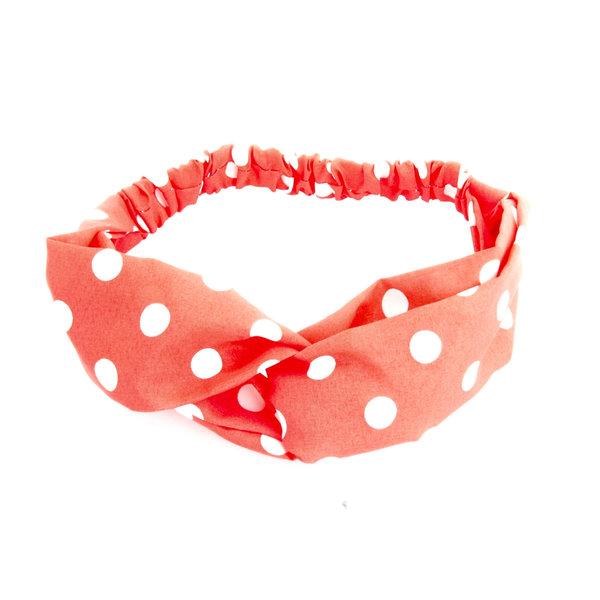 Haarband Klaproos rood met stippen