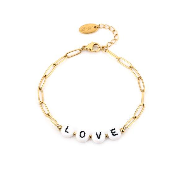 Armband Love l Goud