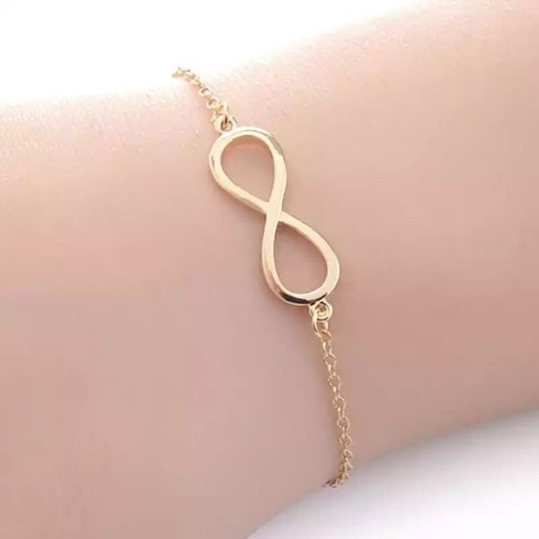 Armband infinity   Goud