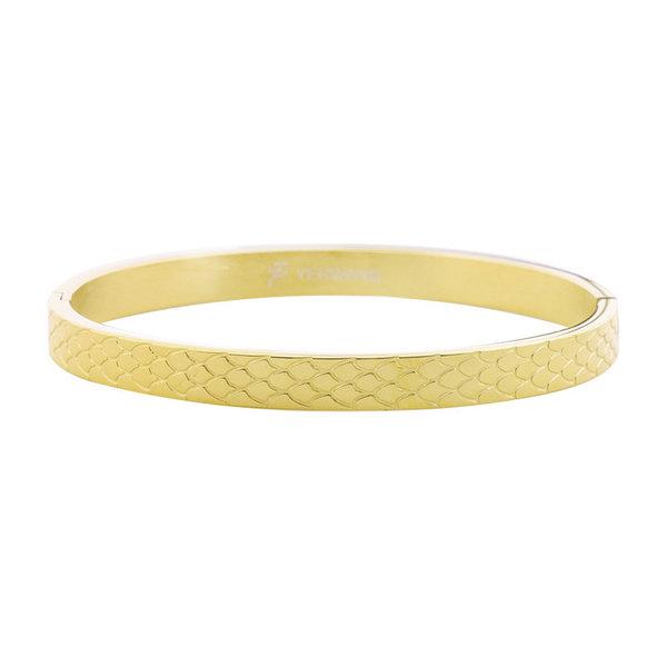 Armband Slangenprint  Medium | Goud