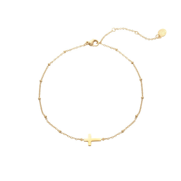 Armband Kruis  — Goud