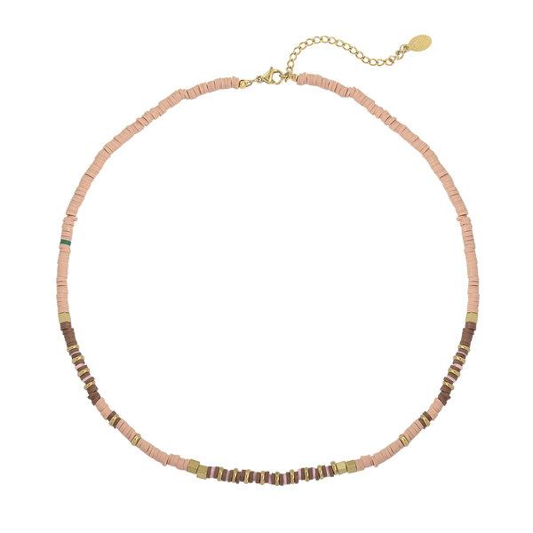 Yehwang Ketting Charming Beads  — Roze