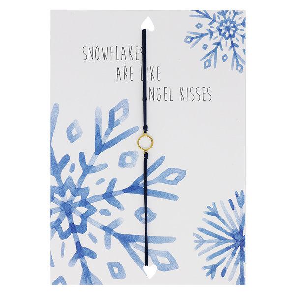 Yehwang Lucies Amsterdam   Kerstkaart met Armband   Snowflakes